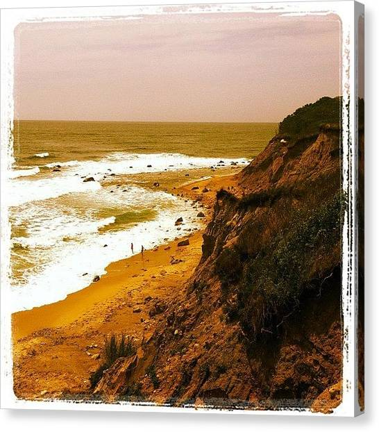 Marshes Canvas Print - Cliffs Of Block Island by Cathy Marsh Photography