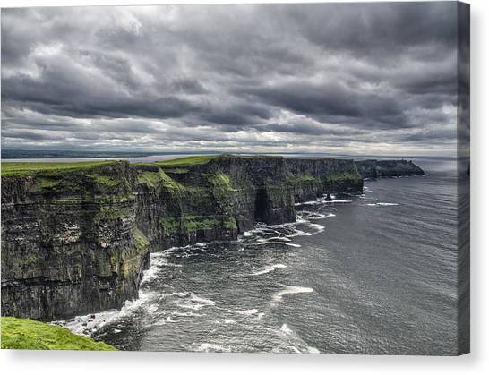 Cliffs Of Moher Canvas Print by John Mee