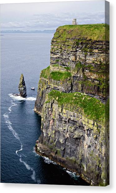 The Cliffs Of Moher Canvas Print - Cliffs Of Moher by Michelle McMahon