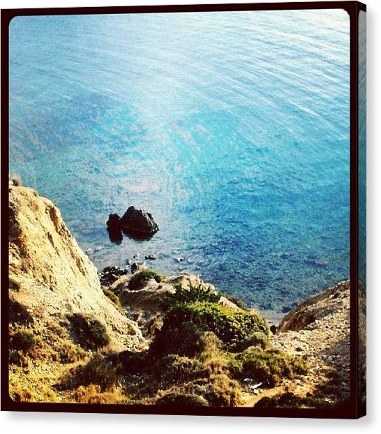 Nudes Canvas Print - Climb Down To Secret Beach (not So by Cage 😱 Folles