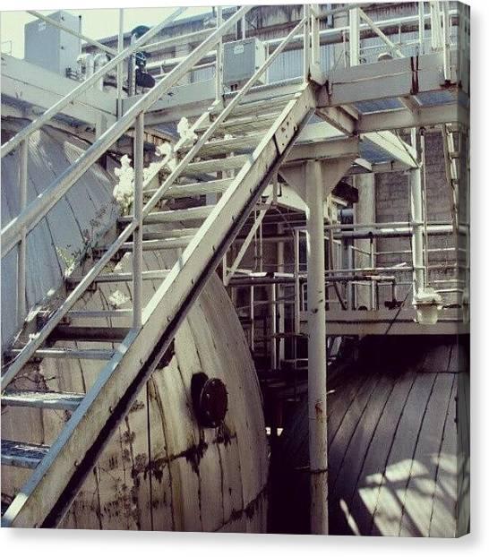 Factories Canvas Print - Climb?  by Elisa B