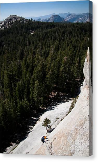 Climber In Yosemite Canvas Print