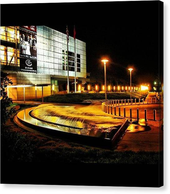 Libraries Canvas Print - Clinton Presidential Library by Roger Snook