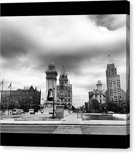 Syracuse University Canvas Print - Clinton Square by Nick Valenzuela