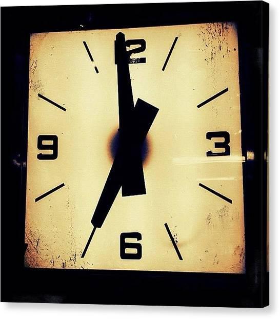 Time Canvas Print - Clock by Natasha Marco