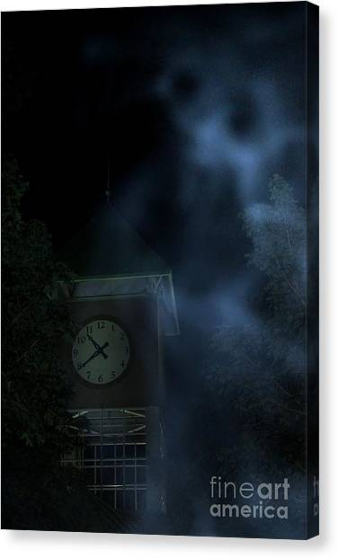 E.t Canvas Print - Clock Tower Ghost by Benanne Stiens