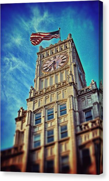 Clock Tower In Downtown Jackson 1 Canvas Print
