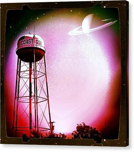 Saturn Canvas Print - Close Encounters #capemay by Fred Lambert