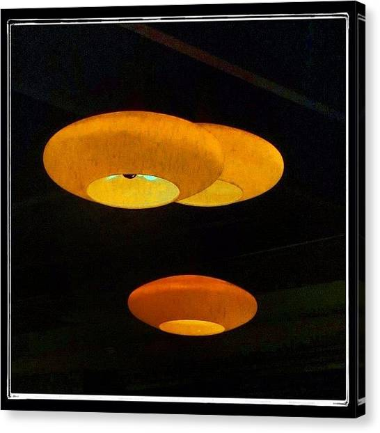 Outer Space Canvas Print - Close Encounters Of The Light Fixture by Christopher Hughes