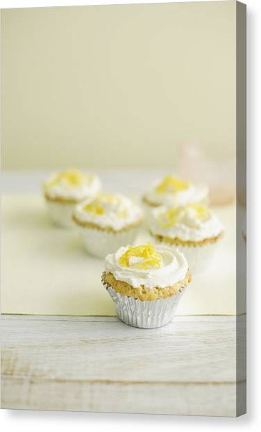 Cupcake Canvas Print - Close Up Of Cupcakes With Frosting by Cultura/BRETT STEVENS