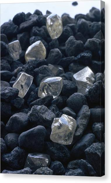 Republic Of South Africa Canvas Print - Close View Of Crystals Scattered Among by James P. Blair