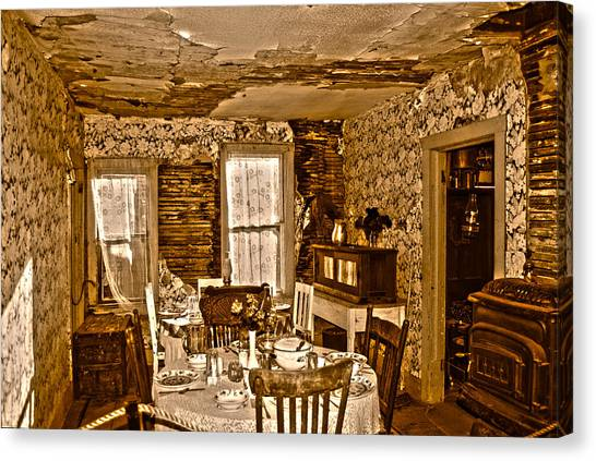 Canvas Print featuring the photograph Closed For Renovations by Judy Hall-Folde
