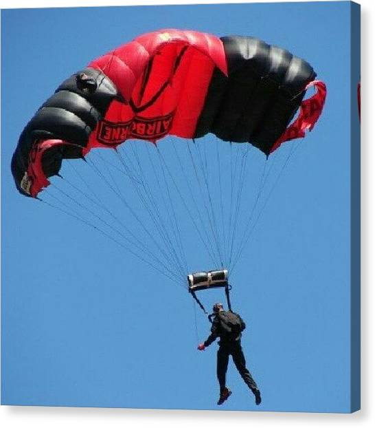 Paratroopers Canvas Print - Closeup Of Paratrooper #paratrooper by Kegan Piper