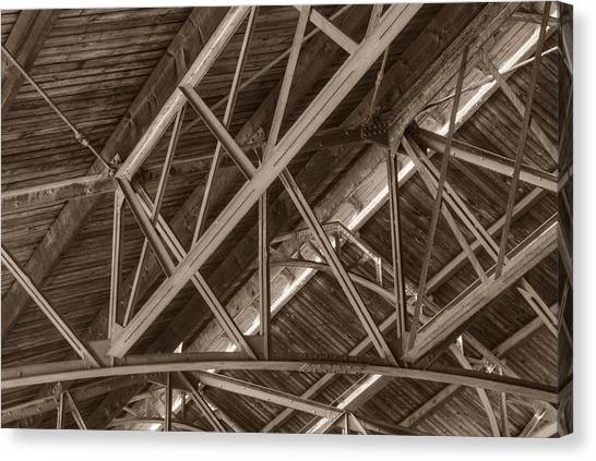 Closeup Of Trusses Canvas Print