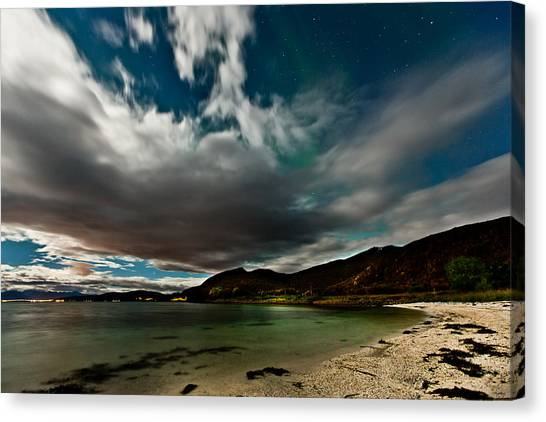 Cloud And Auroras Canvas Print by Frank Olsen