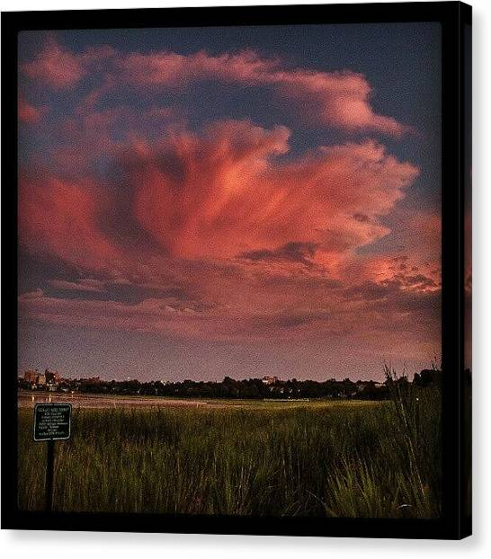 Seagrass Canvas Print - Cloud Blossom~ #twilight #clouds by Chris T Darling