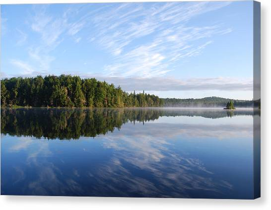 Cloud Reflections Canvas Print by Kim French