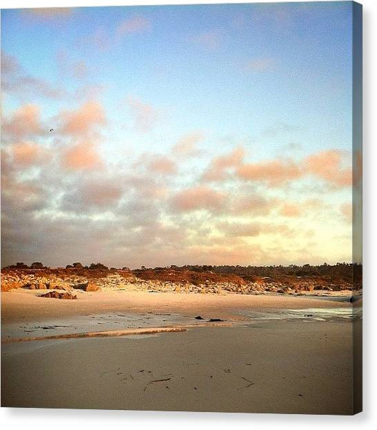 Ocean Sunsets Canvas Print - Clouds Are Rolling Back In During by Kristin Templeman