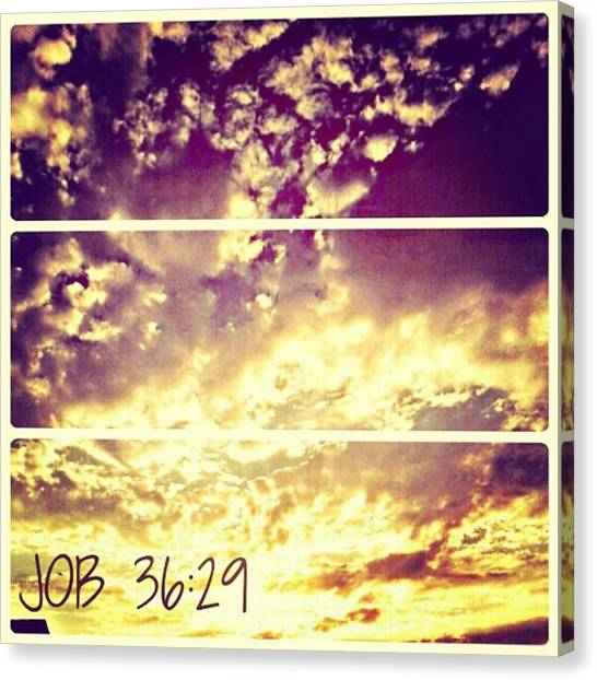 #clouds #bible #phonto #sky Canvas Print by Kel Hill