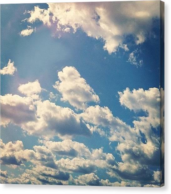 Heaven Canvas Print - #clouds #cloudporn #sky #bluesky by Jenna Luehrsen