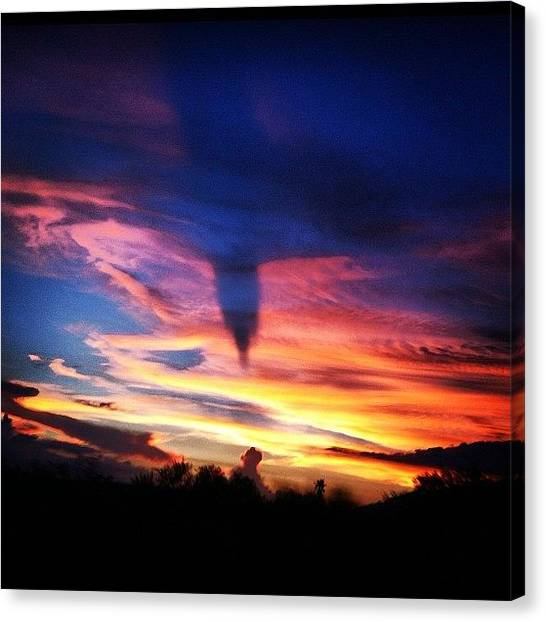 Volcanoes Canvas Print - #clouds #flying #guatemala #volcano #ia by Artistic Shutter