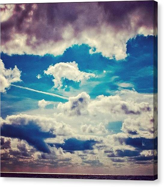 Lake Sunrises Canvas Print - Clouds by Krum Zhikov