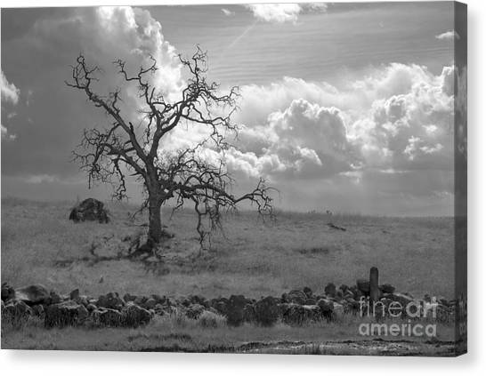 Clouds Moving In Canvas Print
