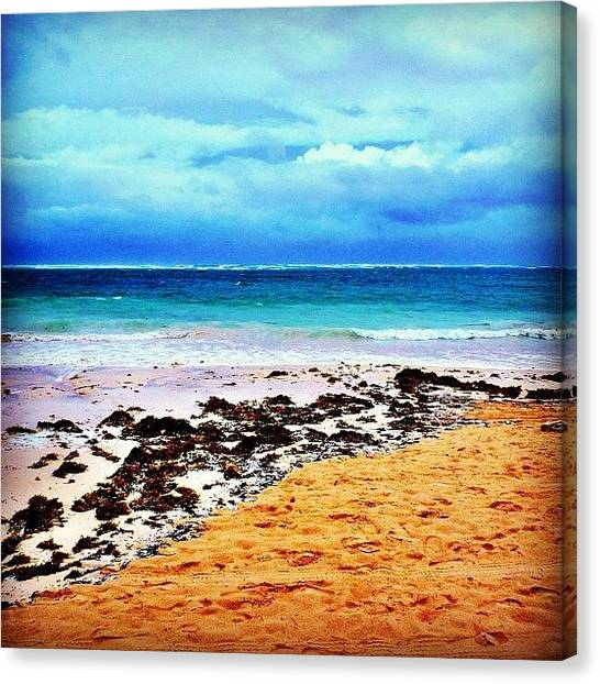 Hurricanes Canvas Print - #clouds #ocean #water #beach #sand by Bex C