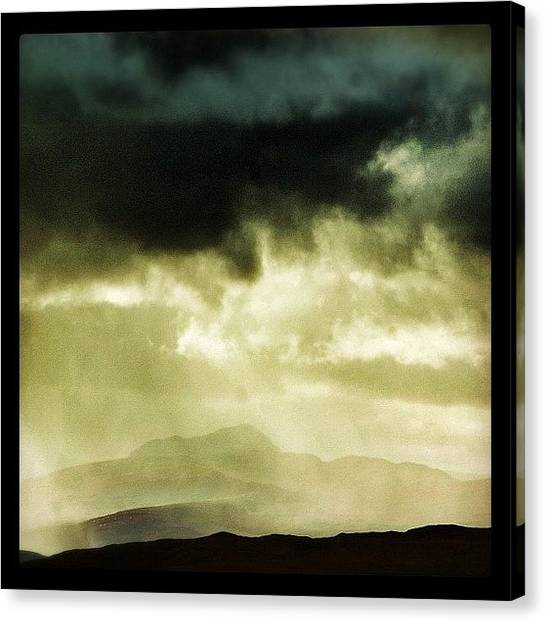 Rainclouds Canvas Print - Clouds Of Guiness #scotland #highlands by Robert Campbell