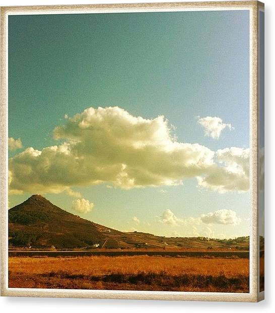 Volcanoes Canvas Print - Clouds Over A Long Inactive Volcano by Cage 😱 Folles