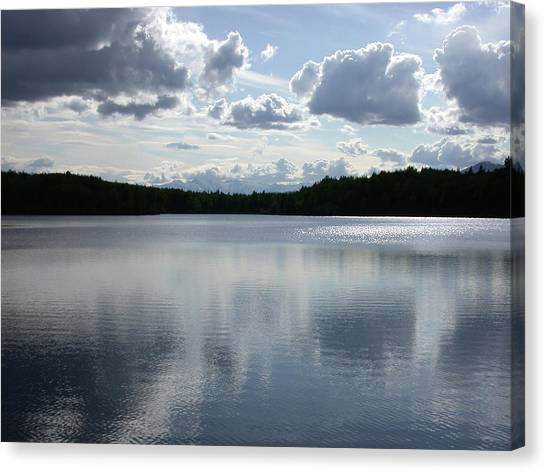Clouds Over Lake Canvas Print