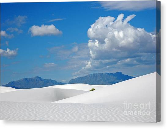 Clouds Over The White Sands Canvas Print
