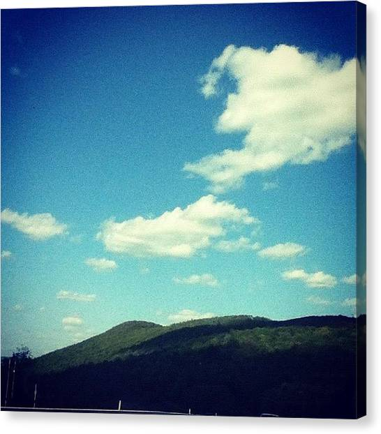 Driving Canvas Print - #clouds #sky #beautiful #natue by Amber Campanaro