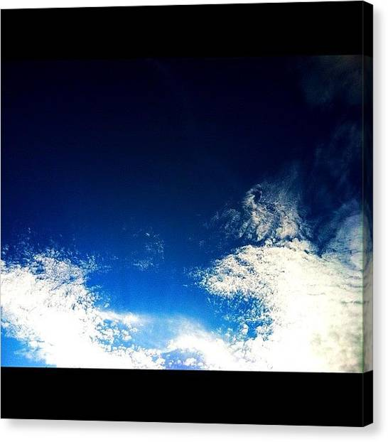 Sublime Canvas Print - #clouds #sky #skies #skyporn #blue by Anthony Sclafani