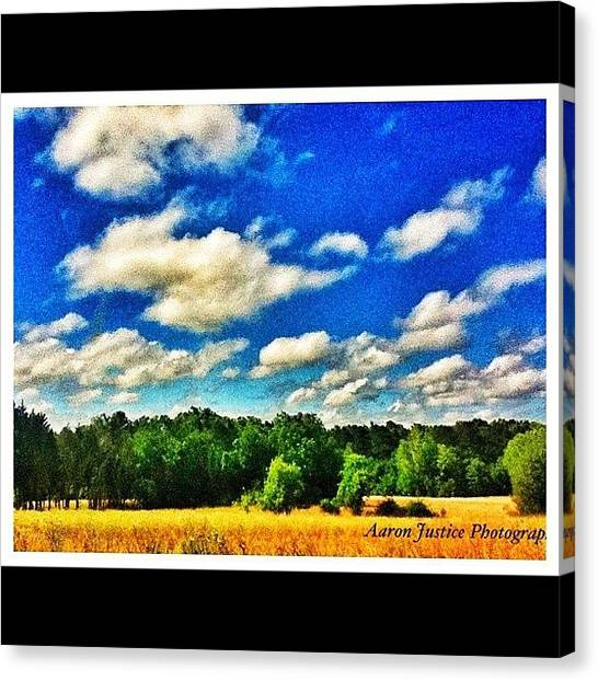 Gym Canvas Print - #clouds #trees #grass #sky #bluesky by Aaron Justice