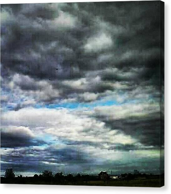 Outer Space Canvas Print - #cloudy #gorgeousclouds #blue #rainy by Alien Alice