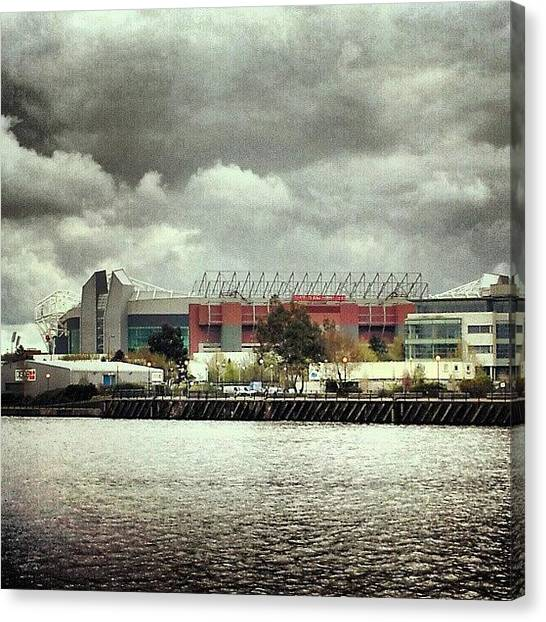 Soccer Canvas Print - #cloudy #weather In #manchester by Abdelrahman Alawwad