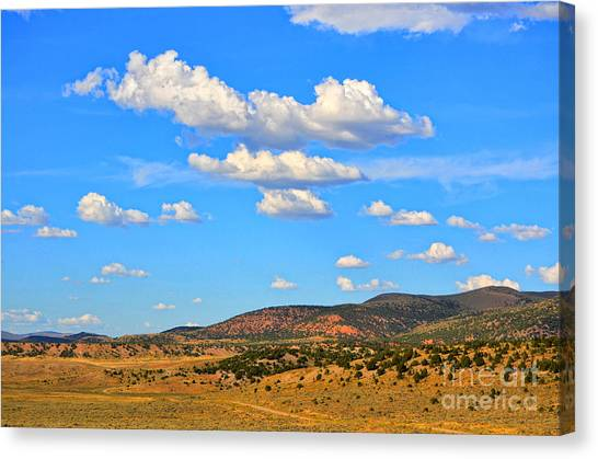 Cloudy Wyoming Sky Canvas Print