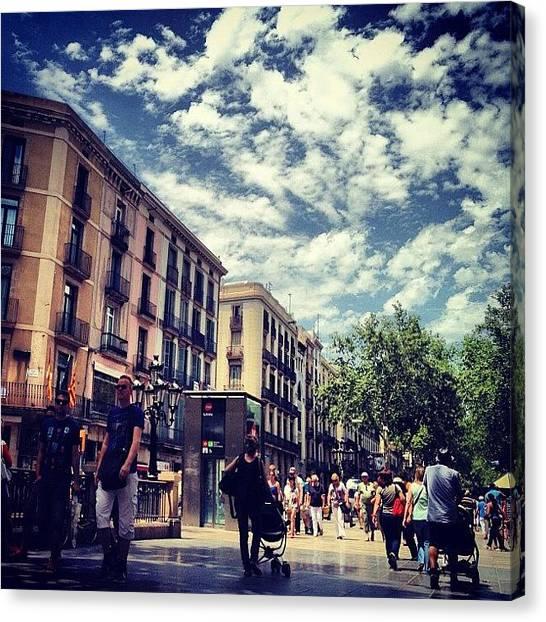 Barcelona Canvas Print - #clubinstagram #instagram #instadaily by Tomas Carcasona