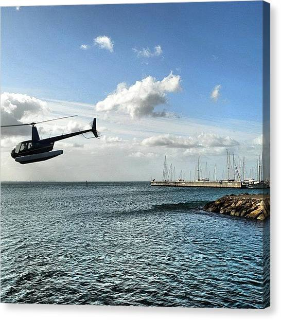Helicopters Canvas Print - #clubsocial #bestagram #victoria by Robert Puttman