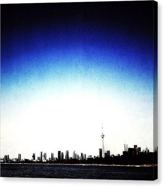 Toronto Skyline Canvas Print - Cn Tower Series: Skyline by Natasha Marco