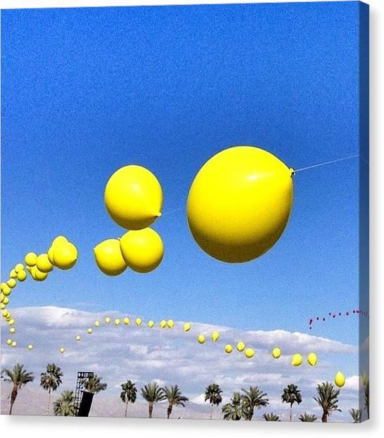 Balloons Canvas Print - #coachella #empirepoloclub #socal by Loren Southard