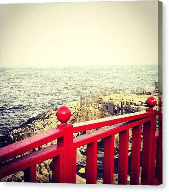 Korean Canvas Print - #coast #beach #spring #asia #korean by Roxanne Soko