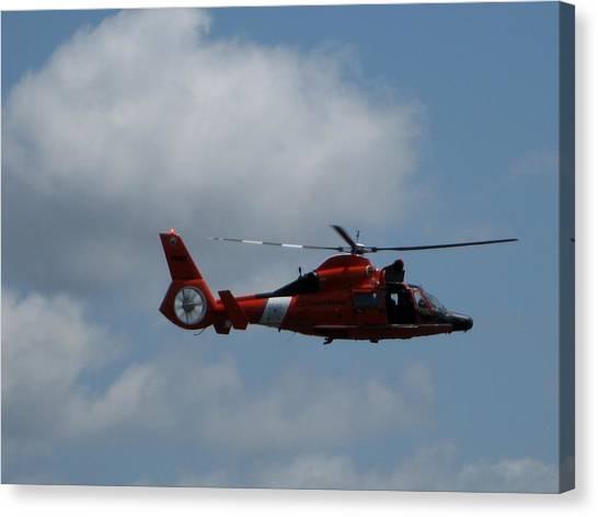 Coast Guard Rescue By Air Canvas Print