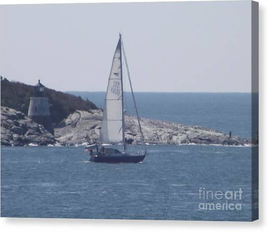 Coastal Newport Ri  Canvas Print
