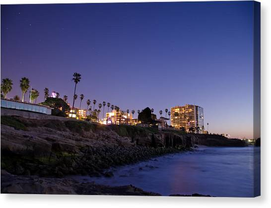 Canvas Print featuring the photograph Coastal Sunset by Margaret Pitcher
