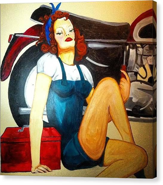 Lounge Canvas Print - Cobra Club #bushwick #brooklyn #bars by Maro Hagopian