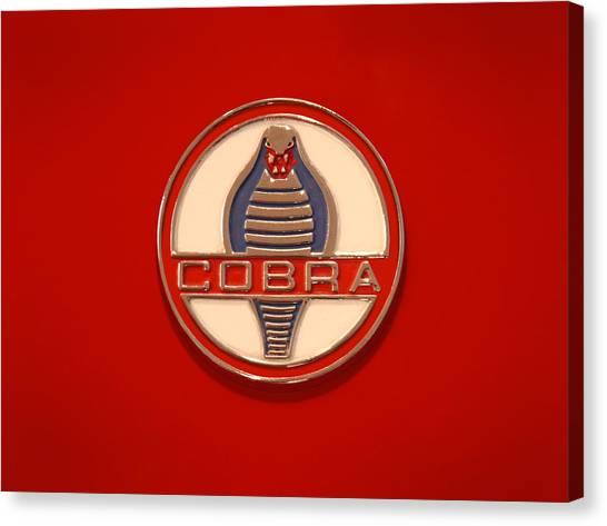 Cobras Canvas Print - Cobra Emblem by Mike McGlothlen