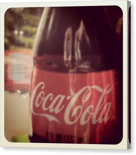 Soda Canvas Print - Coca Cola by Hana McGayle