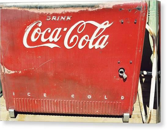 Coca Cola Canvas Print by Trent Mallett